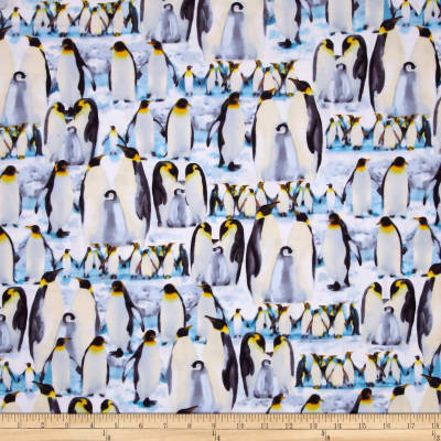 Kanvas The Great North Wilderness Flannel Penguin Parade Ice Blue