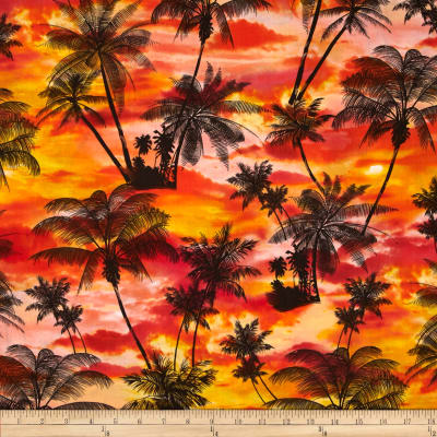 Kanvas Ocean Ave Tropical Sunset Orange