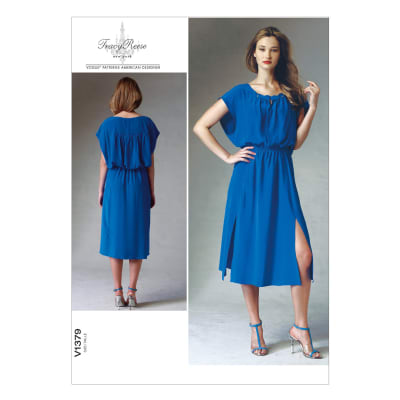 Vogue Misses' Dress Pattern V1379 Size A50