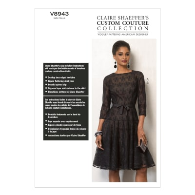 Vogue Misses' Dress and Slip Pattern V8943 Size B50