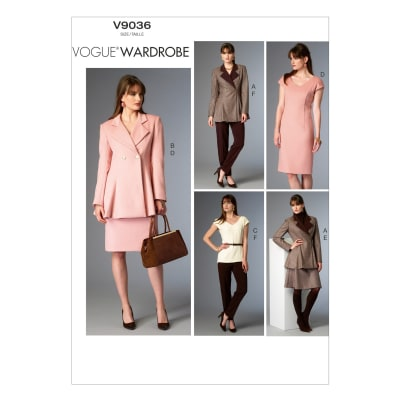 Vogue Misses' Jacket, Top, Dress, Skirt and Pants Pattern V9036 Size A50