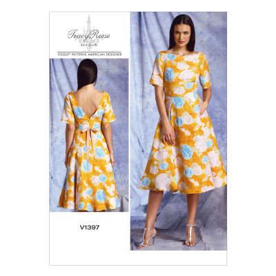 Vogue Misses' Dress Pattern V1397 Size A50