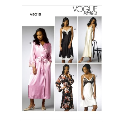 Vogue Misses' Robe and Chemise Pattern V9015 Size A50