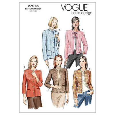 Vogue Misses'/Misses' Petite Jacket Pattern V7975 Size 0A0
