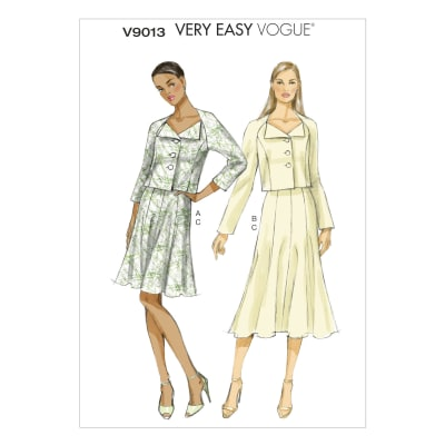 Vogue Misses'/Misses' Petite Jacket and Skirt Pattern V9013 Size A50