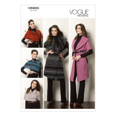 Vogue Misses' Wraps Pattern V8965 Size 0Y0