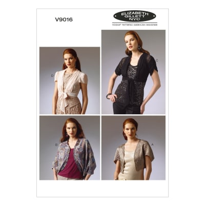 Vogue Misses' Shrug and Jacket Pattern V9016 Size 0Y0