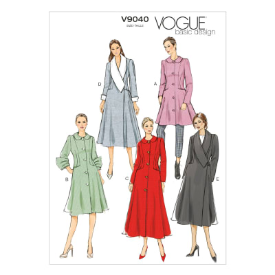 Vogue Misses' Coat Pattern V9040 Size A50