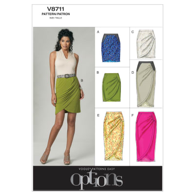 Vogue Misses' Skirt Pattern V8711 Size AA0