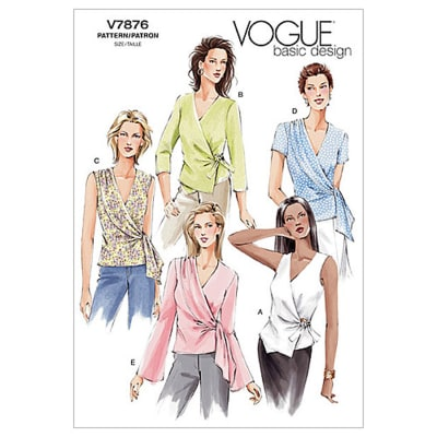 Vogue Misses' Top Pattern V7876 Size 060