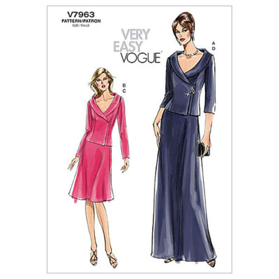 Vogue Misses'/Misses' Petite Top and Skirt Pattern V7963 Size AA0