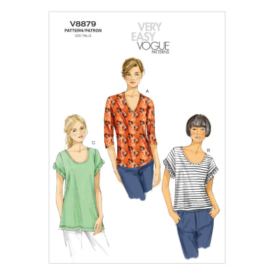 Vogue Misses' Top Pattern V8879 Size 0Y0