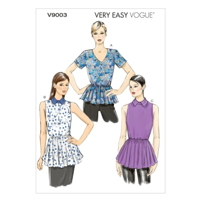 Vogue Misses'/Misses' Petite Top Pattern V9003 Size A50