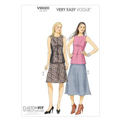 Vogue Misses' Top and Skirt Pattern V9020 Size A50