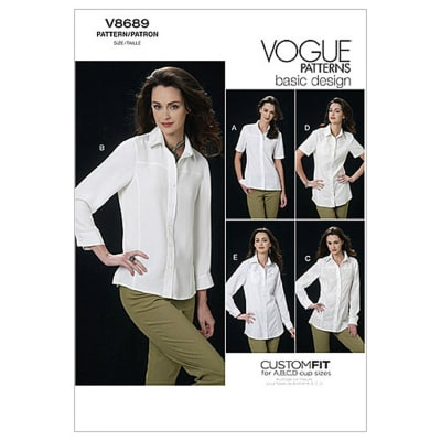 Vogue Misses' Shirt Pattern V8689 Size AA0