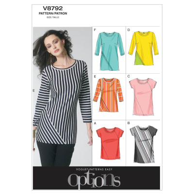Vogue Misses' Top Pattern V8792 Size A50