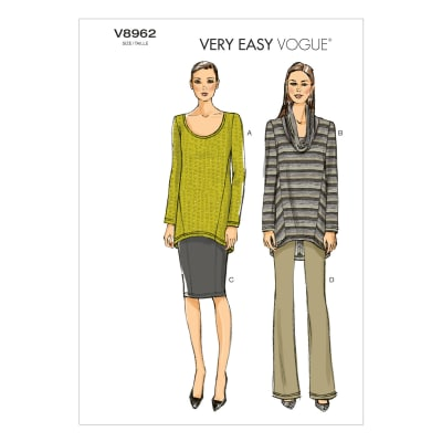 Vogue Misses' Tunic, Skirt and Pants Pattern V8962 Size B50