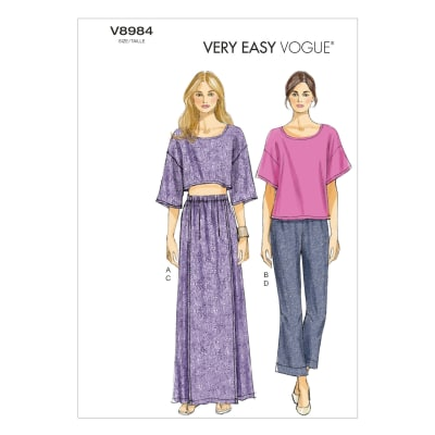 Vogue Misses' Top, Skirt and Pants Pattern V8984 Size B50