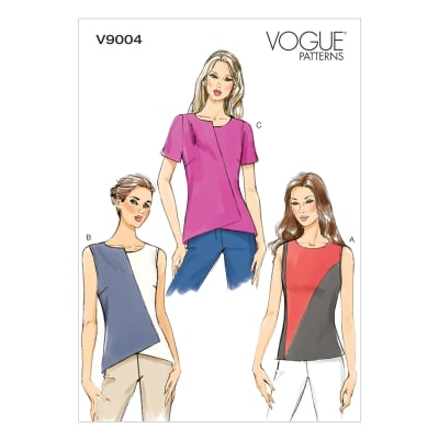 Vogue Misses' Top Pattern V9004 Size A50