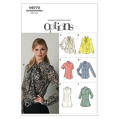 Vogue Misses' Blouse Pattern V8772 Size A50