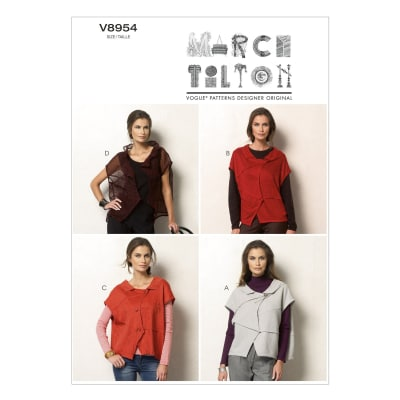 Vogue Misses' Vest Pattern V8954 Size 0Y0