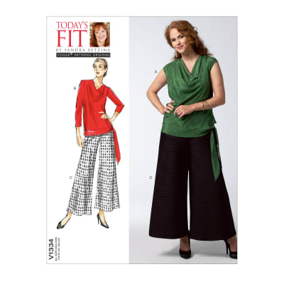 Vogue Misses' Top and Pants Pattern V1334 Size OSZ