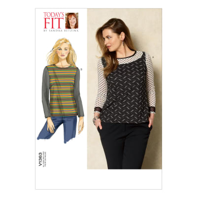 Vogue Misses' Top Pattern V1363 Size OSZ