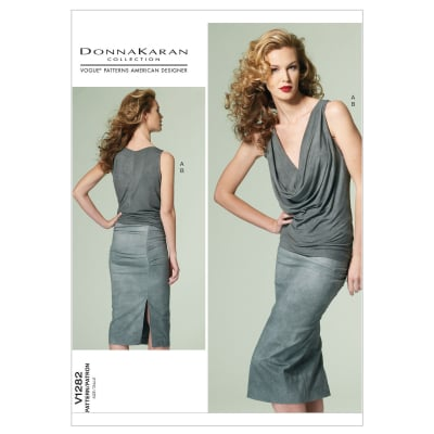 Vogue Misses' Top and Skirt Pattern V1282 Size AX5