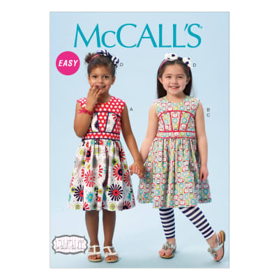 McCall's Children's/Girls' Dresses, Leggings and Hair Bow Pattern M6945 Size CDD