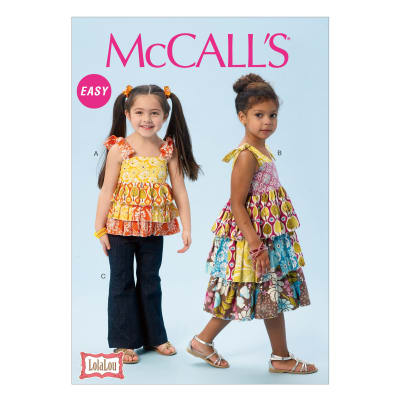 McCall's Children's/Girls' Top, Dress and Pants Pattern M6946 Size CDD
