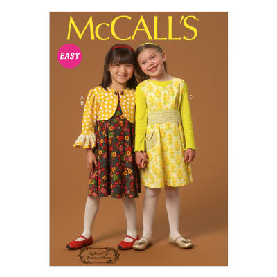 McCall's Children's/Girls' Jacket, Dresses and Belt Pattern M7011 Size CDD