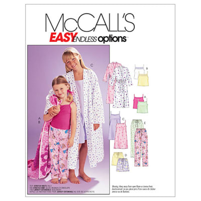 McCall's Children's/Girls' Robe, Belt, Tops, Gown, Shorts and Pants Pattern M6225 Size 0Y0
