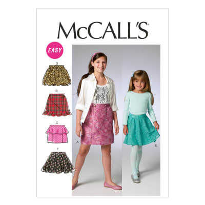 McCall's Children's/Girls' Skirts Pattern M6830 Size CCE