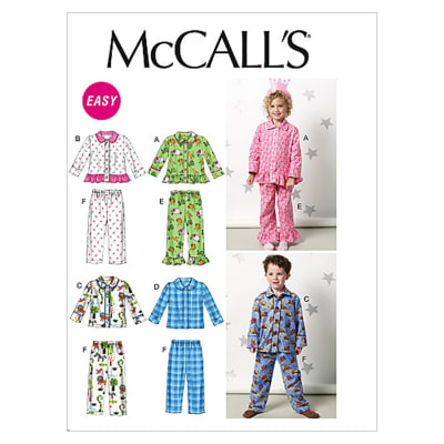 McCall's Toddlers'/Children's Tops and Pants Pattern M6458 Size CB0