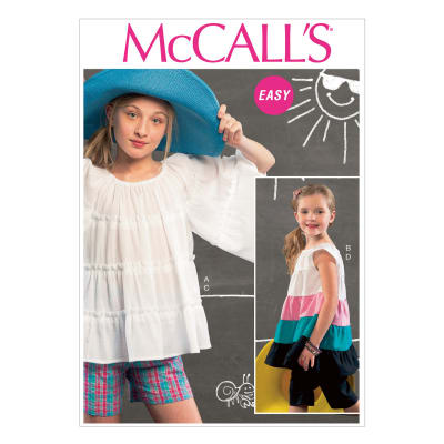 McCall's Children's/Girls' Top, Tunic, Shorts and Pants Pattern M6735 Size CCE