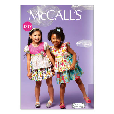McCall's Girls/Girls' Tops and Skirt Pattern M6688 Size CDD