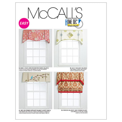 McCall's Window Treatments Pattern M6299 Size OSZ