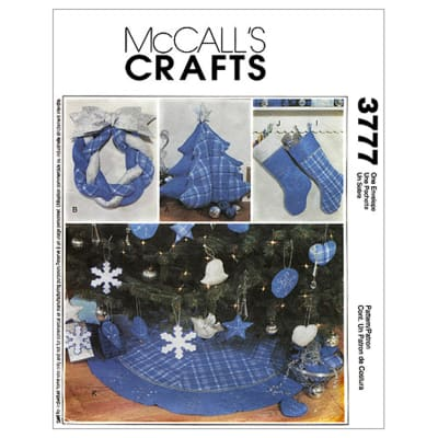 McCall's Christmas Decorating Pattern M3777 Size OSZ