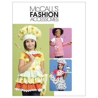 McCall's Aprons, Hats, Headband And Mitt Pattern M6049 Size OSZ