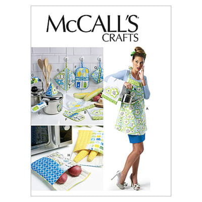 McCall's Apron, Towel, Bags and Potholders Pattern M6479 Size MIS