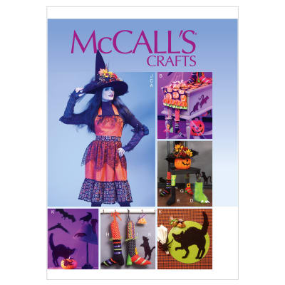 McCall's Apron, Table Runner, Gloves, Chair Decorations, Hat and Silhouettes Pattern M6623 Size MIS