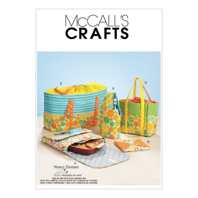 McCall's M6338 Carriers, Hot Pad and Picnic Totes Pattern OSZ (One Size)