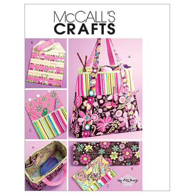 McCall's Satchel, Circular Knitting Needle Organizer and Pouch Pattern M5722 Size OSZ