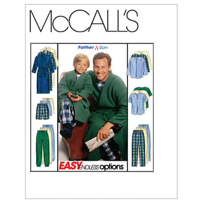 McCall's Boys'/Men's Robe With Tie Belt, Top, Pull-On Pants or Shorts Pattern M6236 Size BOY