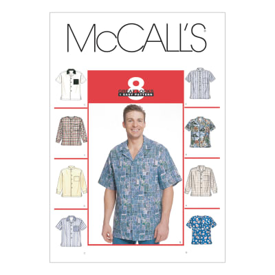 McCall's Men's Shirts Pattern M2149 Size LRG