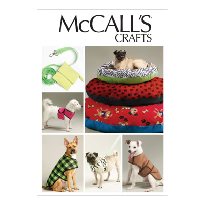 McCall's Dog Bed In 3 Sizes, Leash, Case, Harness Vest and Coat Pattern M6455 Size OSZ
