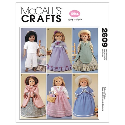 """McCall's Clothes For 18"""" Doll Pattern M2609 Size OSZ"""