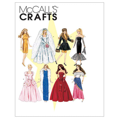 McCall's Fashion Doll Clothes Pattern M6232 Size OSZ