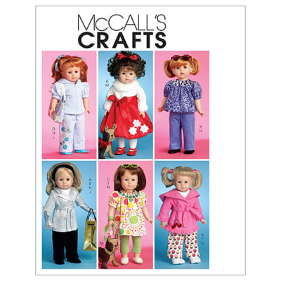 "McCall's Doll Clothes For 18"" Doll and Toy Dog Pattern M5775 Size OSZ"