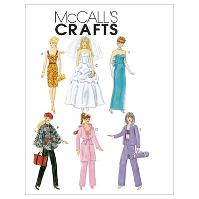 "McCall's Fashion Clothes For 11_"" Doll Pattern M6258 Size OSZ"
